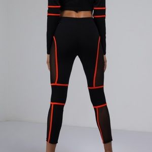 Other - 2 Piece Black And Orange Mesh Set